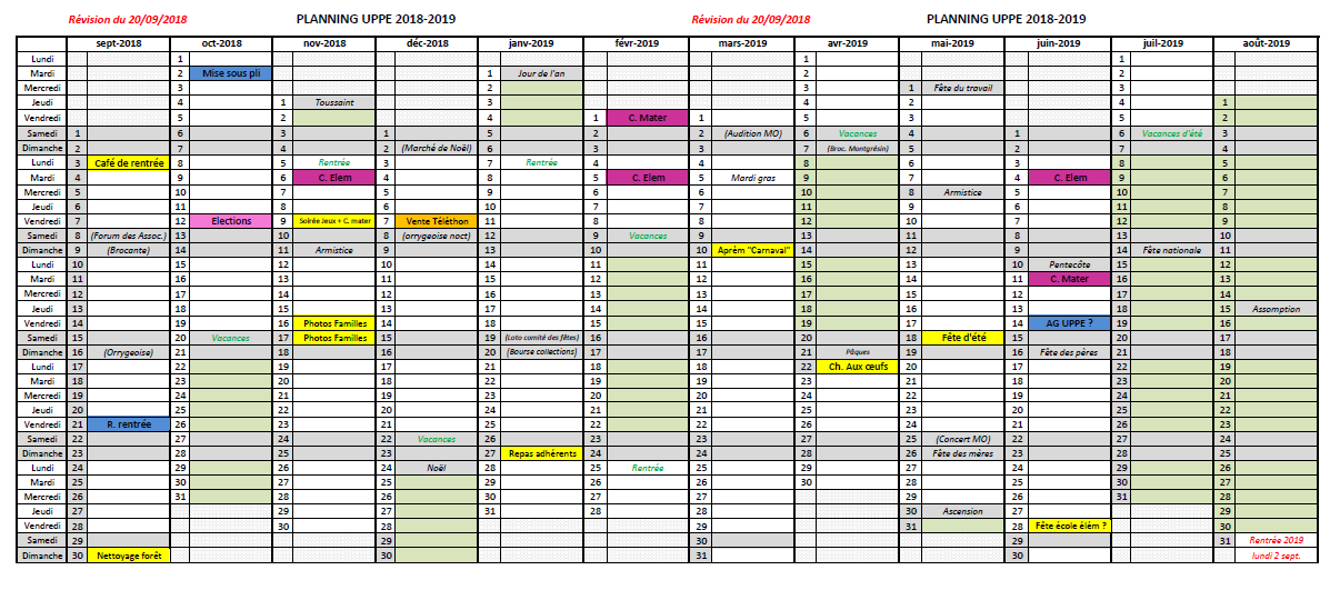 Planning UPPE 2018-2019 v2